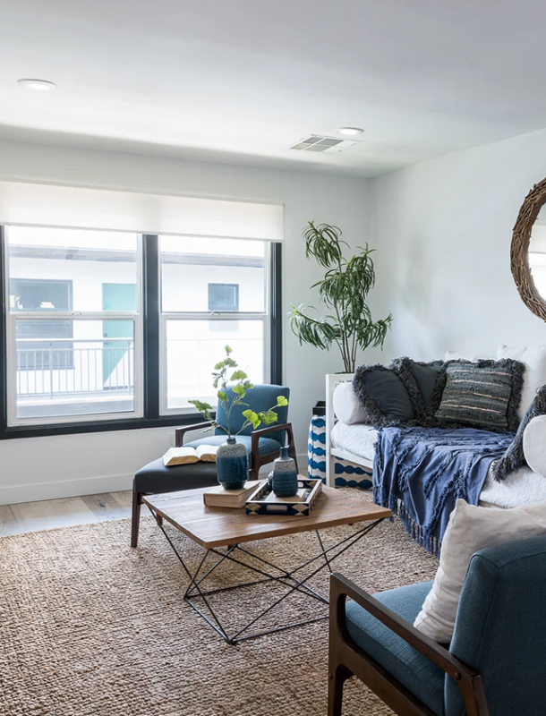 Thistle Pasadena furnished living room
