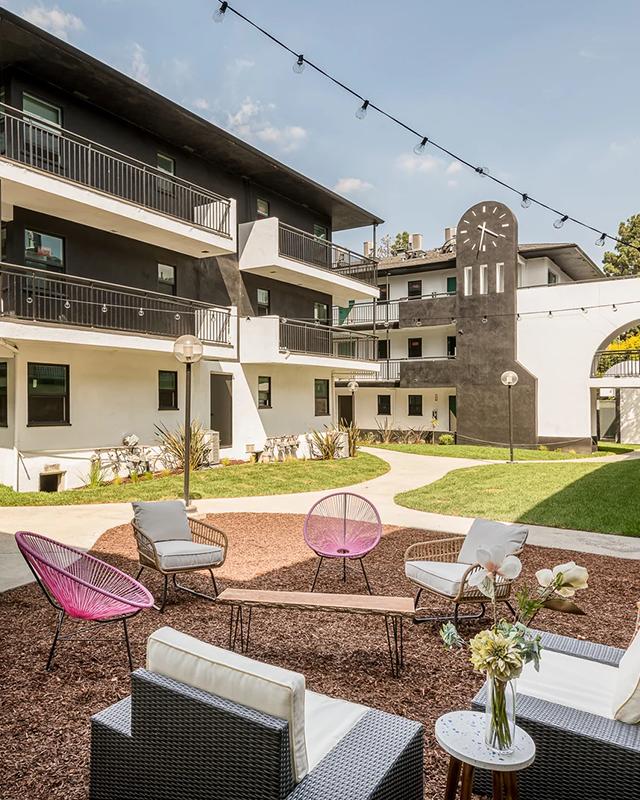 Thistle Apartments Pasadena modern architecture street view