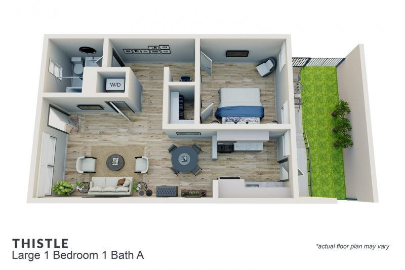 Thistle large 1 bedroom 1 bath A
