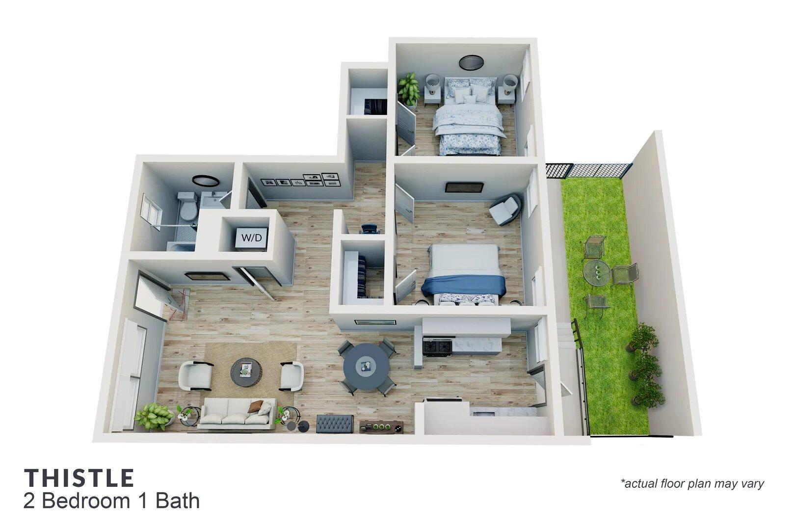 Thistle 2 bedroom 1 bath