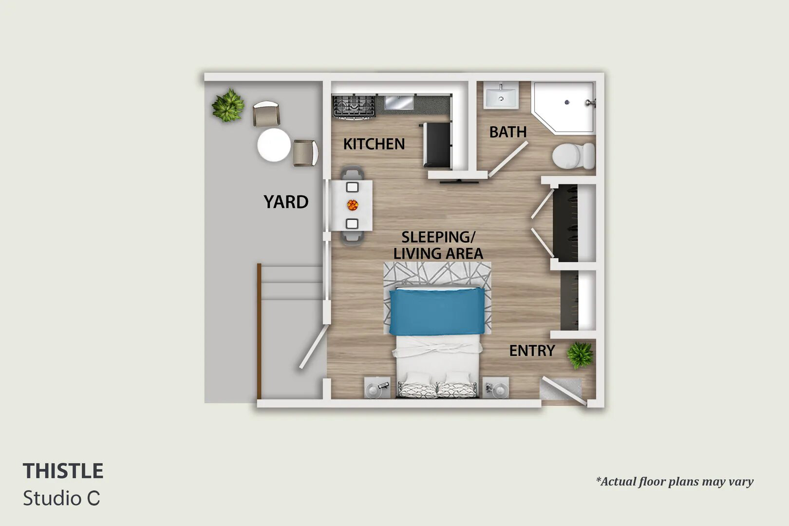 pasadena studio apartment layout C